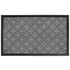 Emilio Rectangular PVC Door Mat - Grey