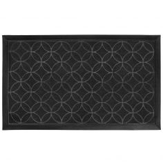 Emilio Rectangular PVC Door Mat - Black