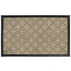 Galets Rectangular PVC Door Mat - Natural