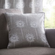 Silhouette Floral Cushion Cover - Grey