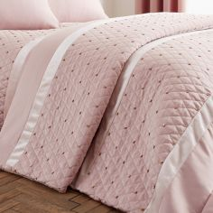 Catherine Lansfield Sequin Cluster Bedspread - Blush Pink