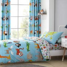 Catherine Lansfield Kids Animal Adventures Duvet Cover Set - Blue