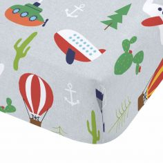 Catherine Lansfield Kids Animal Adventures Fitted Sheet - Blue