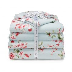 Catherine Lansfield Canterbury Floral Towel Pack - Duck Egg Blue