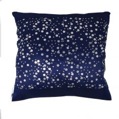 Catherine Lansfield Glitzy Sequin Cushion Cover - Navy Blue