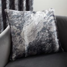 Catherine Lansfield Marble Velvet Cushion Cover - Grey