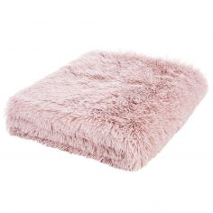 Catherine Lansfield Cuddly Fluffy Throw - Blush Pink