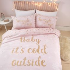 Catherine Lansfield Baby It's Cold Outside Duvet Cover Set - Pink