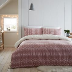 Catherine Lansfield Alpine Fleece Duvet Cover Set - Blush Pink