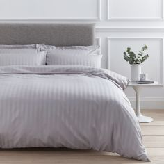 Catherine Lansfield So Soft Stripe Duvet Cover Set - Grey