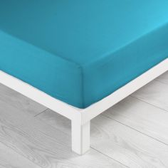 Jersey 100% Cotton Fitted Sheet - Teal Blue