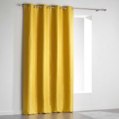 Paleo Embossed Blackout Eyelet Single Curtain Panel - Yellow