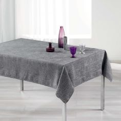 Alisson Jacquard Tablecloth - Charcoal Grey