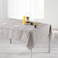 Alisson Jacquard Tablecloth - Pearl Grey
