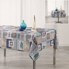 Cap Ouest Nautical Printed Tablecloth - Blue
