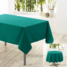 Essentiel Plain Tablecloth - Emerald Green
