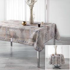 Ethnic Wood Tablecloth - Natural