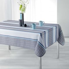 Feliz Striped Tablecloth - Blue