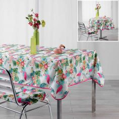 Flamingo Beach Colourful Tablecloth - Multi
