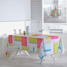 Florida Leaf Printed Tablecloth - Multi