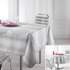 Kosmo Tablecloth with Printed Circles - Grey