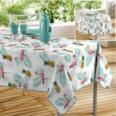 Lady Flamingo PVC Tablecloth - Multi