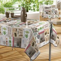Marche Fermier Photoprinted PVC Tablecloth