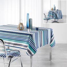 Matelot Striped Tablecloth - Blue