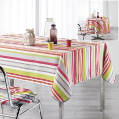 Matelot Striped Tablecloth - Pink