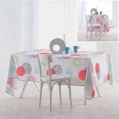 Nebulo Tablecloth with Printed Circles - Multi