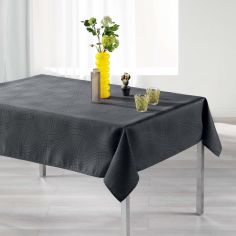 Ondelina Jacquard Tablecloth - Charcoal Grey