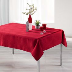 Ondelina Jacquard Tablecloth - Red