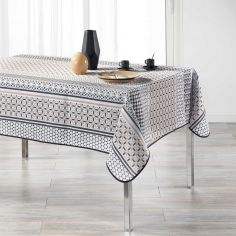 Peruvia Patterned Tablecloth - Charcoal Grey
