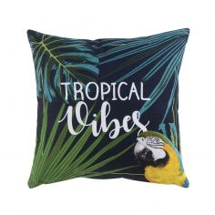 Janeiro Tropical Vibes 100% Cotton Cushion - Blue & Green