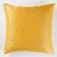 Shadow Embossed Velvet Cushion Cover - Yellow
