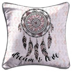 Indian Dream Printed Cushion Cover - Pink