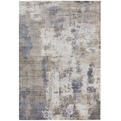Gatsby Viscose Abstract Rug - Cloud Blue