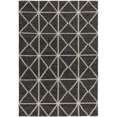 Prism Contrasting Geometric Pattern Rug - Silver Grey