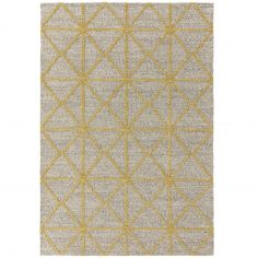 Prism Contrasting Geometric Pattern Rug - Yellow