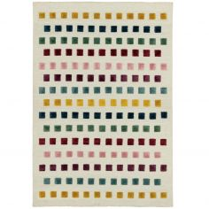 Theo Woven Jewel Squares Rug - Multi