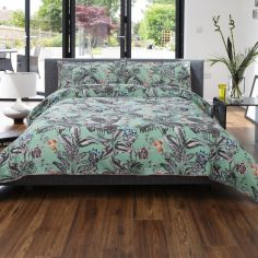 Hummingbird 100% Cotton Duvet Cover Set - Green