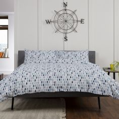 Whitby 100% Cotton Duvet Cover Set - Blue