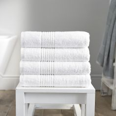 Eden 100% Egyptian Cotton 650GSM Bathroom Towel - White