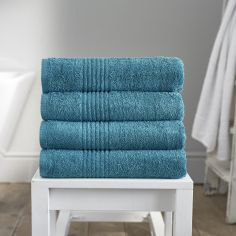Eden 100% Egyptian Cotton 650GSM Bathroom Towel - Teal Blue