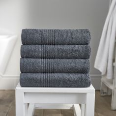Eden 100% Egyptian Cotton 650GSM Bathroom Towel - Charcoal Grey