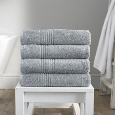 Eden 100% Egyptian Cotton 650GSM Bathroom Towel - Silver Grey