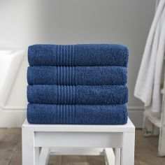 Eden 100% Egyptian Cotton 650GSM Bathroom Towel - Midnight Blue