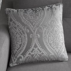 Chateau Damask Cushion Cover - Silver Grey