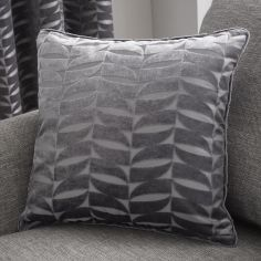 Kendal Geometric Cushion Cover - Charcoal Grey