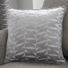 Kendal Geometric Cushion Cover - Silver Grey